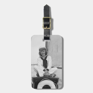 Woman Sailor Luggage Tag