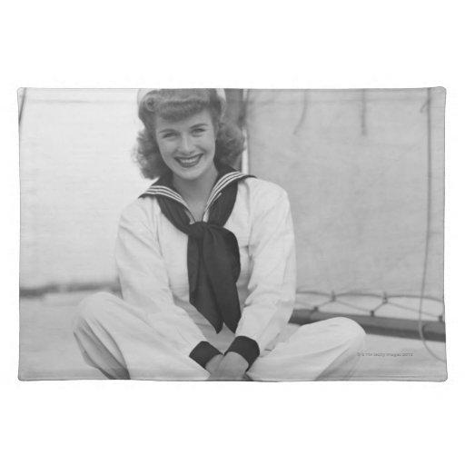 Woman Sailor Place Mat
