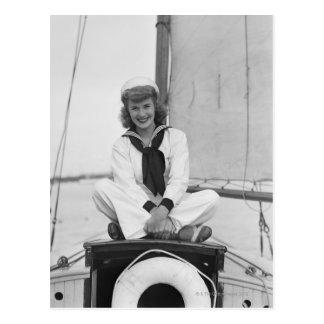 Woman Sailor Postcard