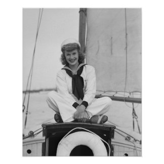Woman Sailor Poster