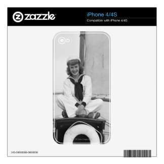 Woman Sailor Skins For iPhone 4