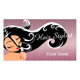 Woman Salon Hair Stylist Business Card