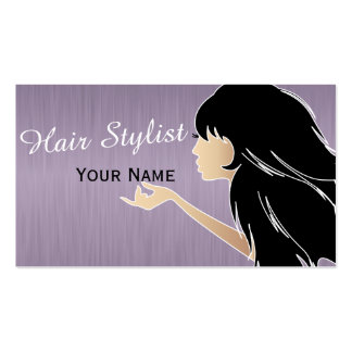 Woman women silhouette design business cards templates for Business cards for women