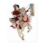 Woman Samurai Post Card