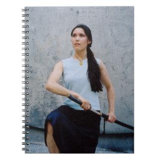 Woman Samurai Warrior Spiral Notebook