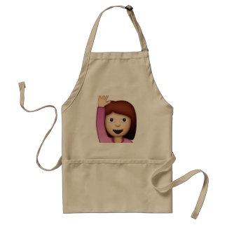 Woman Saying Hello - Emoji Adult Apron