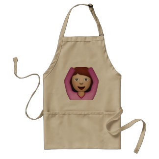 Woman Saying Yes - Emoji Adult Apron