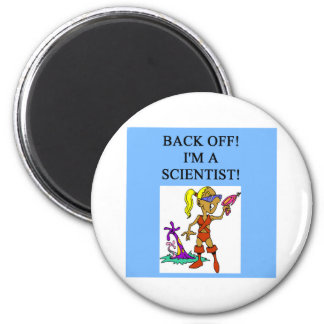 woman scientist 2 inch round magnet