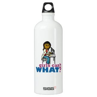 Woman Scientist Aluminum Water Bottle