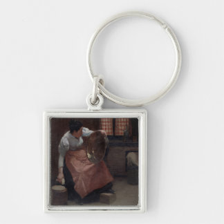 Woman Scouring Keychain