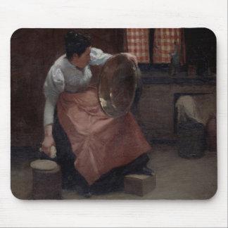 Woman Scouring Mousepad