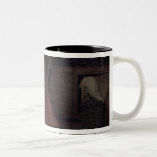 Woman Scouring Two-Tone Coffee Mug