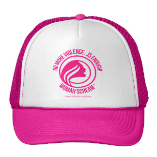Woman Scream No more violence is enough Mesh Hats