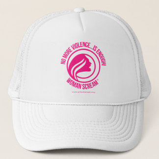 Woman Scream No more violence is enough Trucker Hat