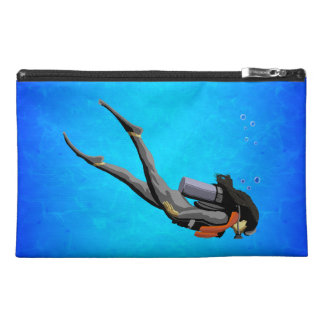 Woman SCUBA Diving Travel Accessory Bags