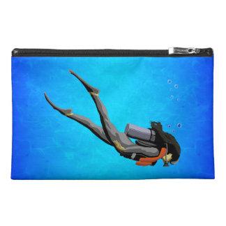 Woman SCUBA Diving Travel Accessory Bags