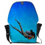 Woman SCUBA Diving Messenger Bags