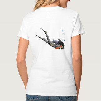 Woman SCUBA Diving Tee Shirt