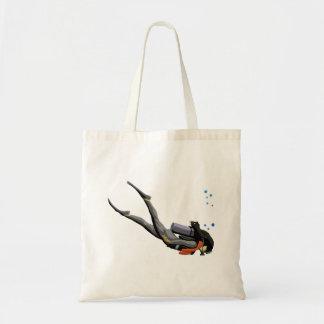 Woman SCUBA Diving Tote Bag