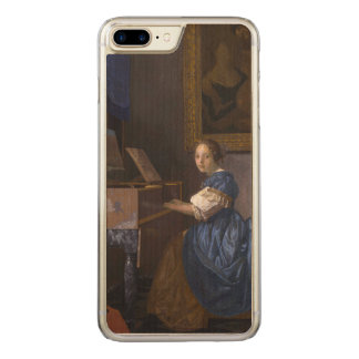 Woman Seated at a Virginal by Vermeer Carved iPhone 7 Plus Case