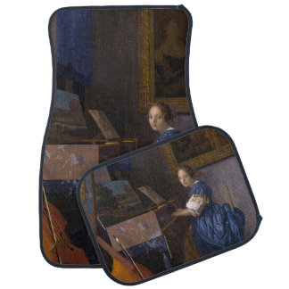 Woman Seated at a Virginal by Vermeer Car Mat