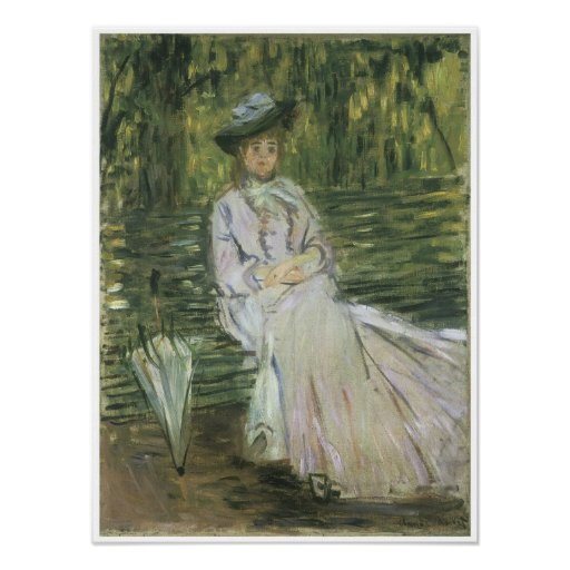 Woman Seated on a Bench, 1874 Poster
