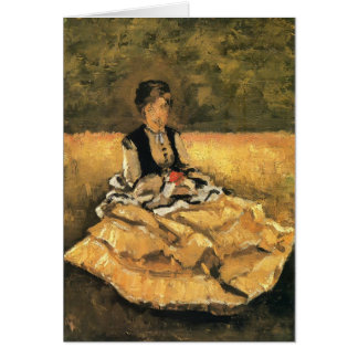 Woman Seated on the Lawn by Gustave Caillebotte Cards