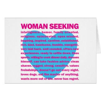 woman seeking LOVE Card