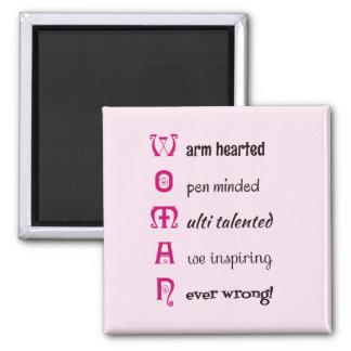 WOMAN self-esteem inspirational pink Magnet