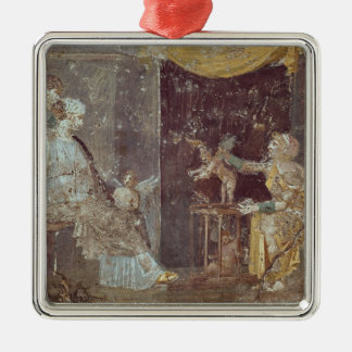 Woman selling Cupids, from Stabiae Square Metal Christmas Ornament