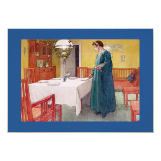 Woman Setting the Table 5x7 Paper Invitation Card
