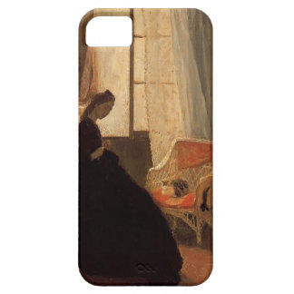 Woman Sewing at a Window by Gwen John iPhone 5 Cases