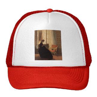 Woman Sewing at a Window by Gwen John Trucker Hat
