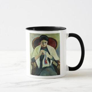 Woman Sewing Mug