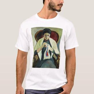Woman Sewing T-Shirt