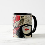 Woman Shading her eyes Mug
