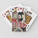 Woman Shading her eyes Playing Cards