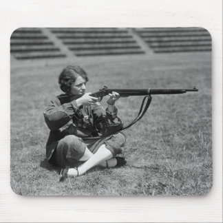 Woman Sharpshooter, 1920s Mouse Pad