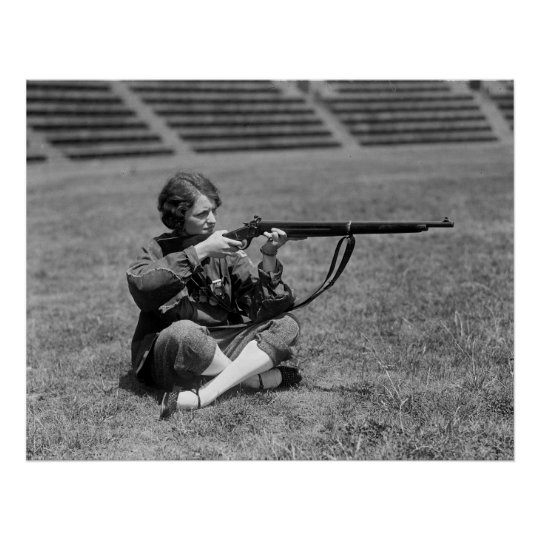 Woman Sharpshooter, 1920s Poster
