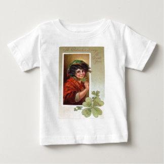 Woman Shawl Shamrock Four Leaf Clover Tee Shirt