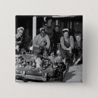 Woman Shipfitters Working on Submarine Pinback Button