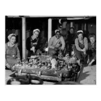 Woman Shipfitters Working on Submarine Postcard