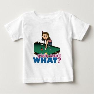 Woman Shooting Pool Baby T-Shirt