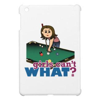 Woman Shooting Pool iPad Mini Cases