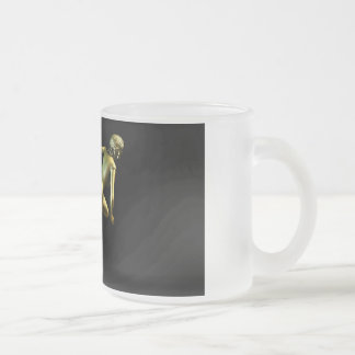 Woman Shopper Running for a Sales Event Frosted Glass Coffee Mug