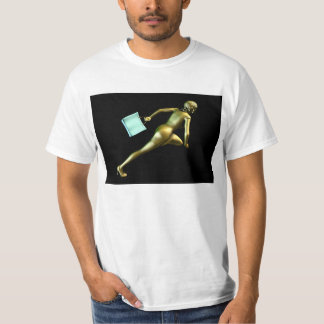 Woman Shopper Running for a Sales Event T-Shirt
