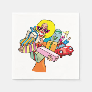 Woman Shopping Paper Napkins