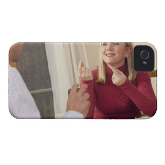 Woman signing the phrase 'What do you want to iPhone 4 Case