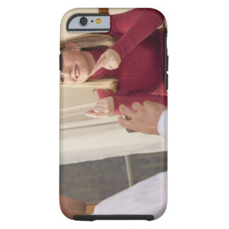 Woman signing the phrase 'What do you want to Tough iPhone 6 Case