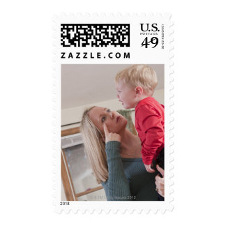 Woman signing the word 'Cry' in American Sign Stamp